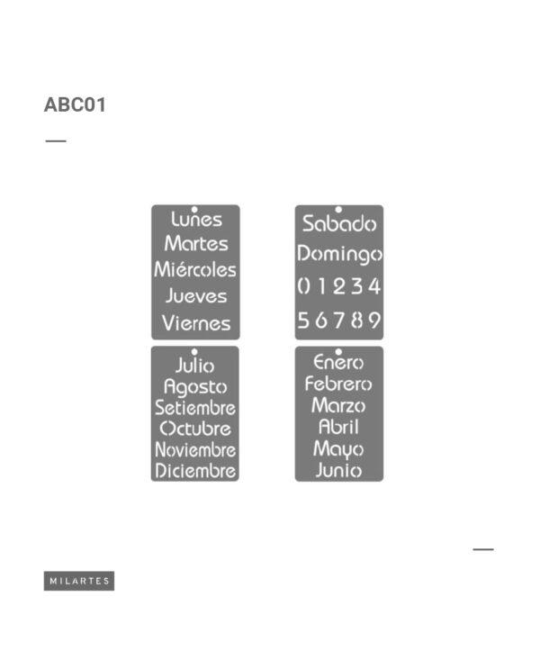 ABC 1 Calendario