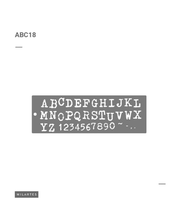 ABC 18 Letras Rotas
