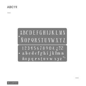 ABC 19 Letras Mayúsculas