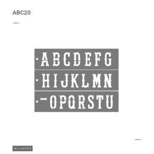 ABC 20 Letras