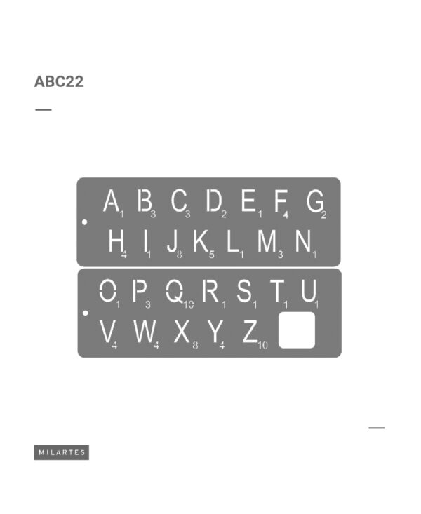 ABC 22 Letras y números